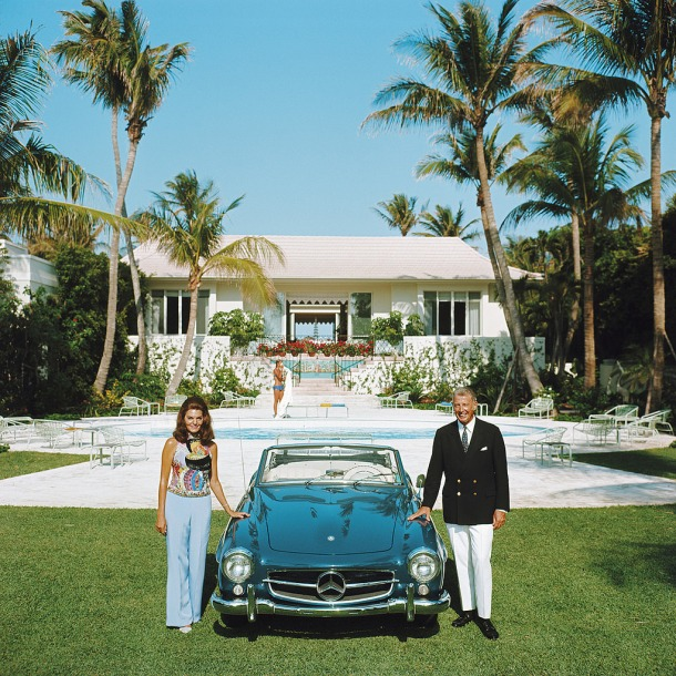 Alvin and Lilly Fuller outside their new home in Palm Beach, Florida,  1970.